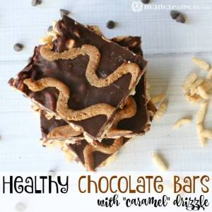 "Healthy Chocolate Bars With ""Caramel"" Drizzle Recipe"
