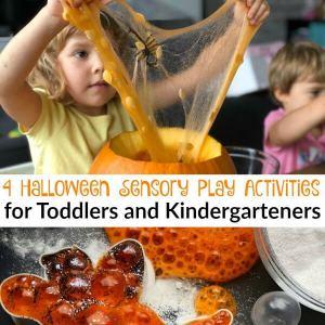 4 Halloween Sensory Play Activities for Toddlers and Kindergarteners