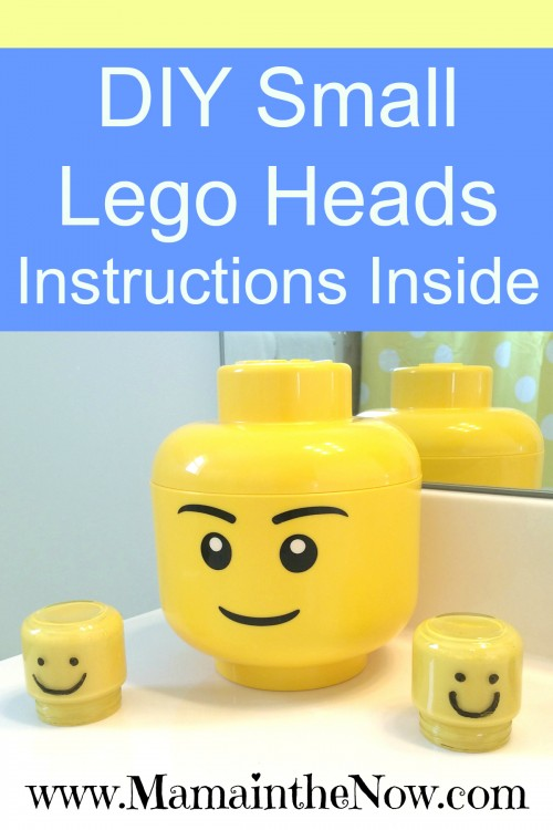 DIY Small LEGO Heads, perfect decoration for a LEGO room or LEGO bathroom.
