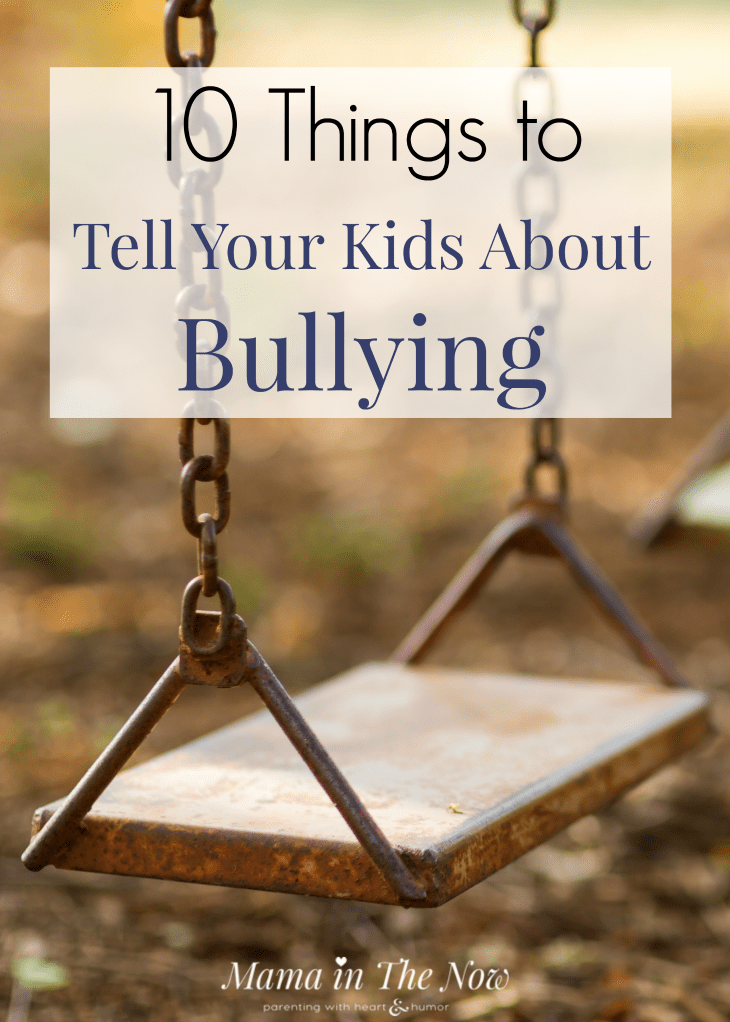 Prepare your kids for back to school by talking about bullying. Talk to your kids about bullying: how to prevent, how to react and what to do if you witness it. Teach your kids about bullying. #Bullying #StopBullying #SchoolBullying #ParentingTip #Parenting #MamaintheNow