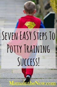 Seven easy steps to potty training success!