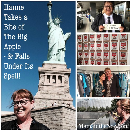 Hanne takes a bite of the big apple