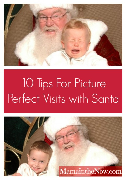 Ten Tips for Picture Perfect Visits with Santa.10 must-read tips for picture perfect visits with Santa. Get these fool-proof tips for great Santa pictures from a mother of four. No more tears during Christmas pictures with Santa. #SantaPictures #SantaPhotography #SantaVisit #ParentingTIp #Christmas