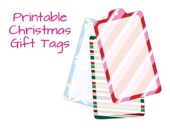 Blank Printable Tags: Holiday Gift Blank Tag Template