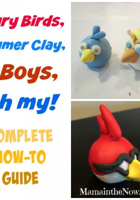 Angry Birds, Polymer Clay and Boys - oh my!
