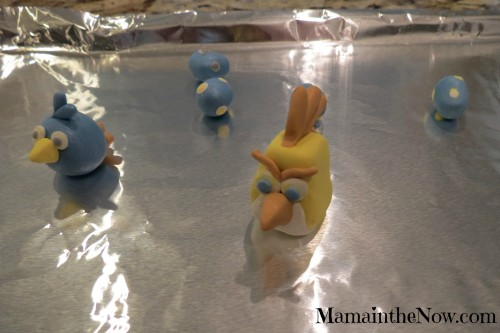 Angry Birds made out of polymer clay - in the oven