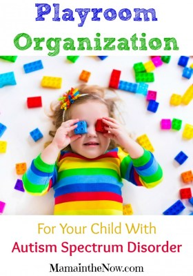 "Playroom Organization tips for Your Child on the Autism Spectrum Disorder (""ASD""). Special needs children will thrive in rooms set up with this system."