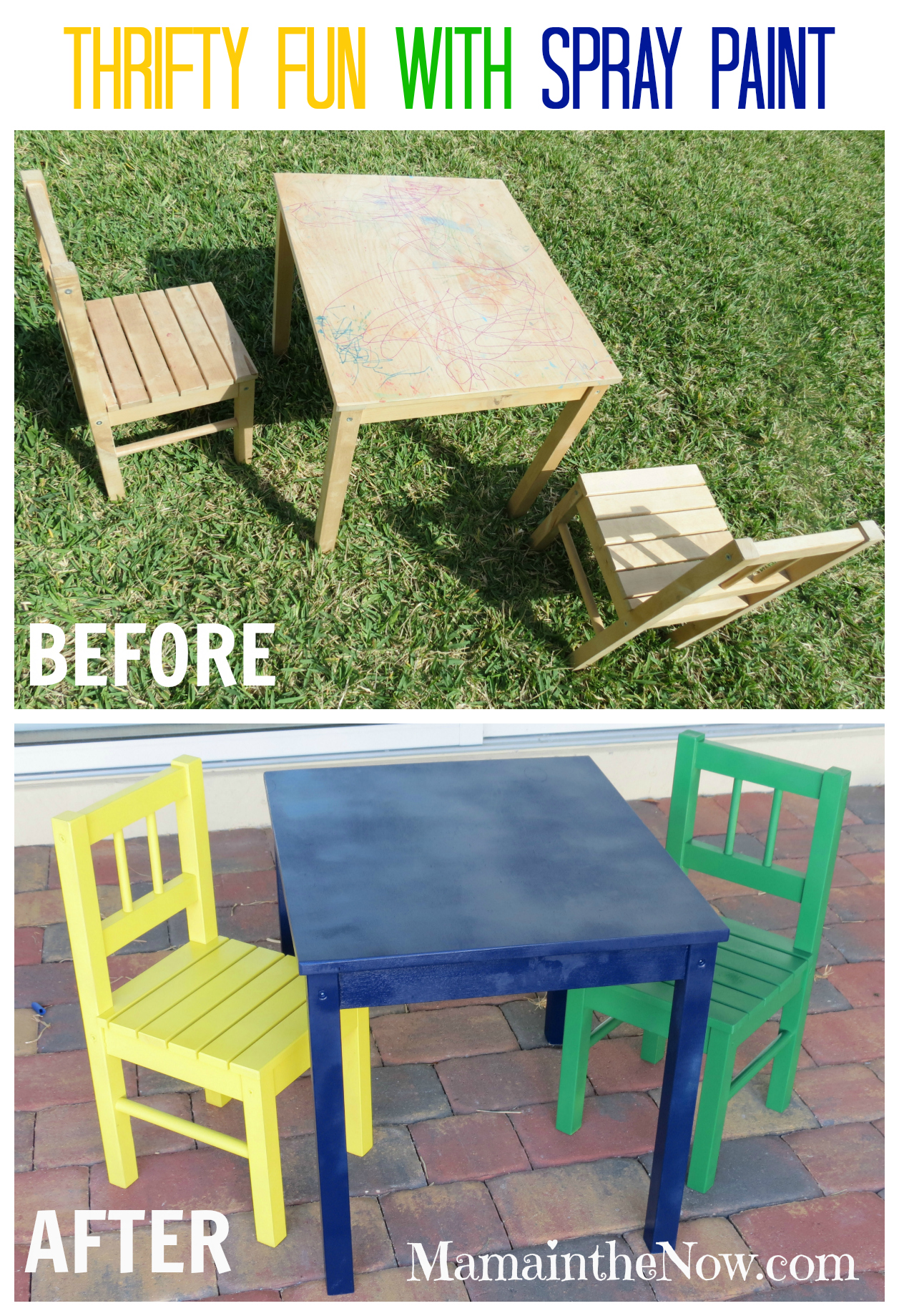 Awe Inspiring Diy Fun With The 8Th Wonder Spray Paint Ikea Table And Chairs Download Free Architecture Designs Sospemadebymaigaardcom