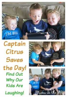 Captain Citrus Saves the Day in Four Different Ways. Find out why the kids are laughing.
