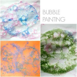 Bubble painting. Painting has never been this much fun!