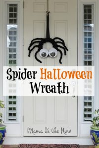 DIY Spider Halloween Wreath! Make your door the focal point of the neighborhood with this fun wreath! Craft to your heart's content!