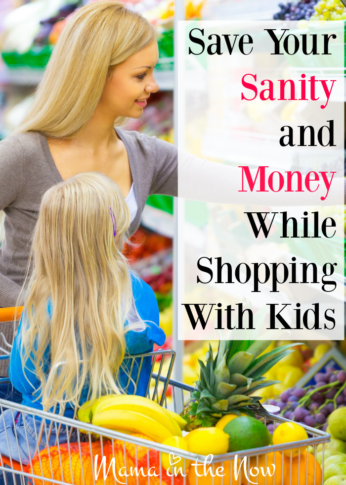 Save your sanity and money while shopping with kids. Top tips from a mother of four! # 2 is a crucial step!
