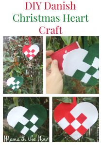 DIY Danish Christmas Heart Craft. These adorable felt hearts are a wonderful way to give a gift card, small present or handmade ornament! Fun to make with kids.