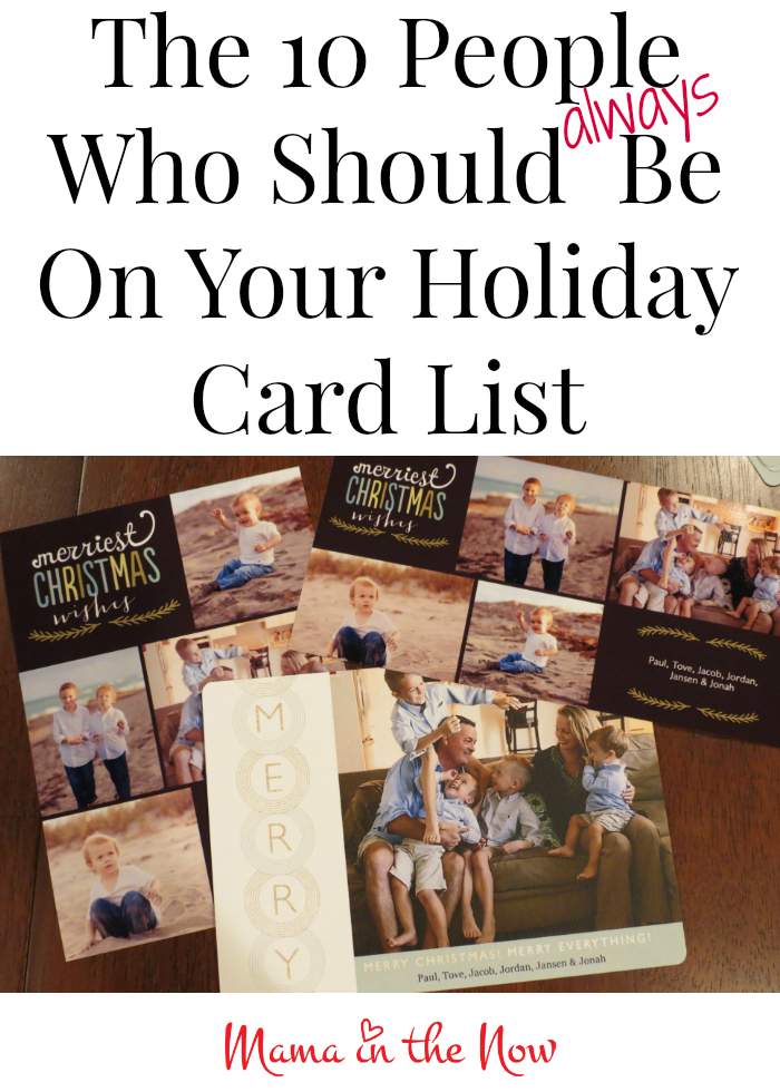 The 10 People Who Should be on Your Holiday Card List