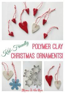 Kid-friendly polymer clay christmas ornaments. These adorable DYI crafts are easy and fun to make with your kids. They may priceless presents and decorations!
