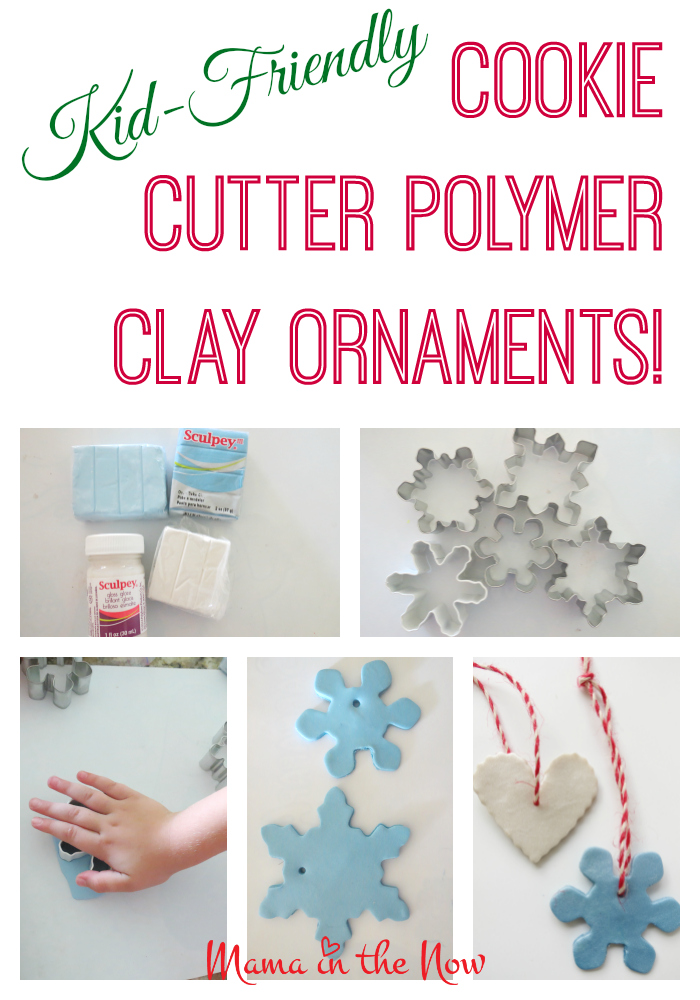 Kid-friendly cookie cutter polymer clay christmas ornaments. These adorable DYI crafts are easy and fun to make with your kids. They may priceless presents and decorations!