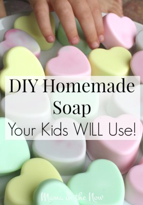 DIY Homemade soap your kids WILL use. Keeping your kids healthy and clean can seem impossible. But our four boys ASK to wash their hands now!