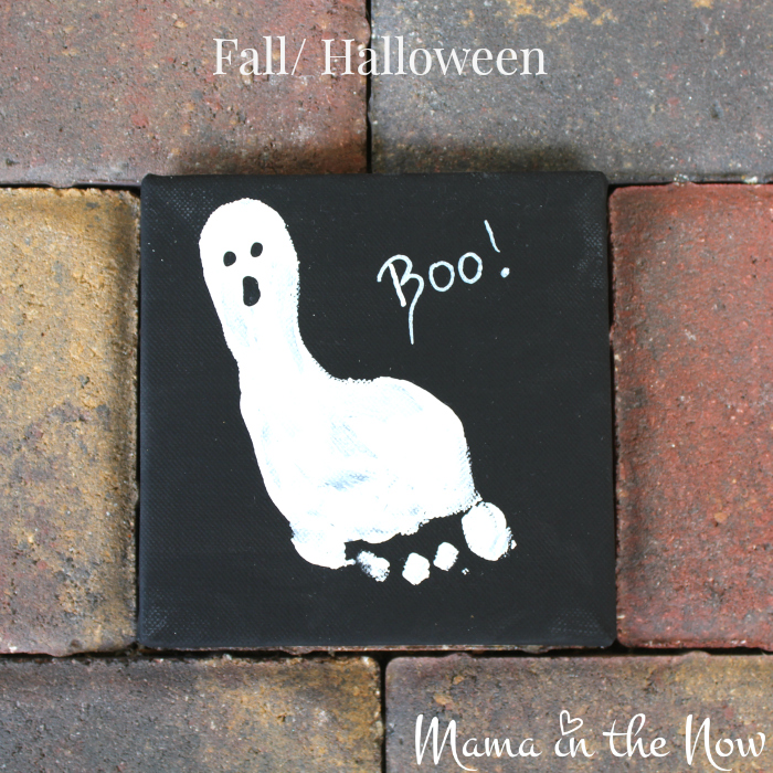The ghost and the turkey handprint art are a great gift idea for grandparents, teachers and parents alike. Easy craft idea for toddlers and babies, kids of all ages.