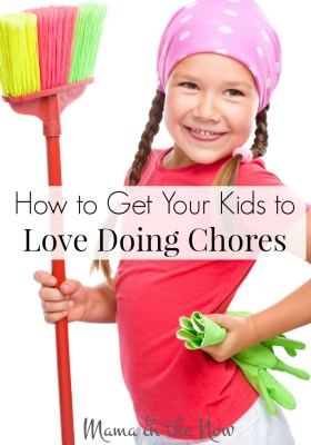 How to get your kids to love doing chores - even have them begging for them! Our kids LOVE this method - and have for years! Parenting win!