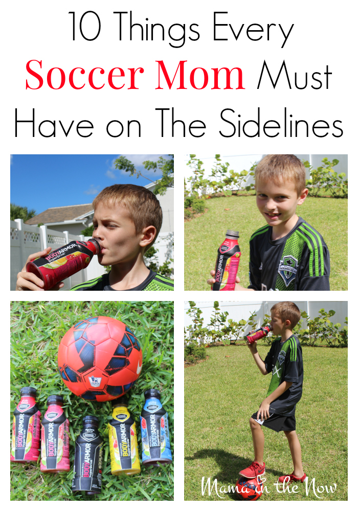 10 things every soccer mom must have on the sidelines. Pack a bag that keeps every member of your family happy! This is a must-read!