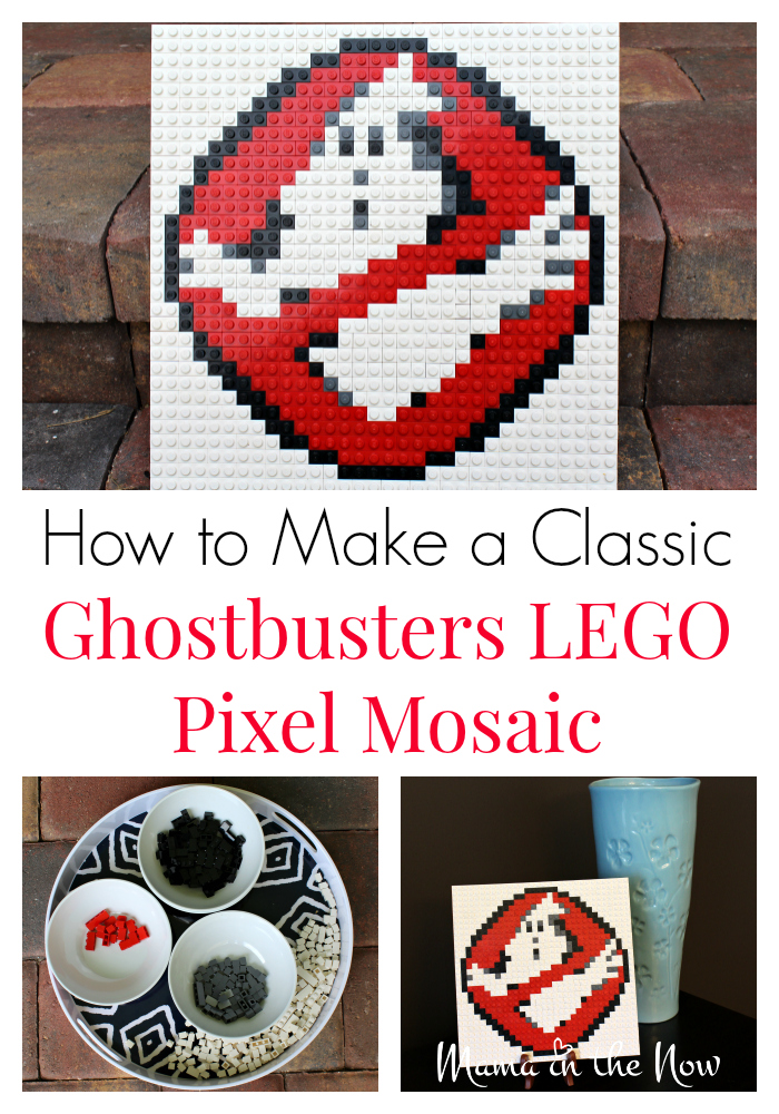 How to make a classic Ghostbusters LEGO pixel mosaic art. Step by step instructions. LEGO brick art is a great craft for adults and kids alike.