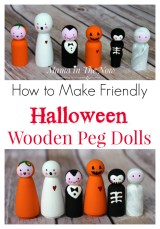 How to Make Friendly Halloween Wooden Peg Dolls