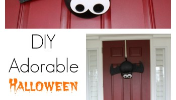 diy adorable halloween bat wreath