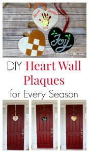 Make your own wall plaques for the front door, over the mantel or to decorate the baby's nursery. Creative ideas to replace the Christmas wreath or as a cute Valentine's Day decoration. Click for ideas and inspiration.
