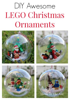 These DIY LEGO ornaments are perfect for the Christmas LEGO builds from the advent calendar. Make your own LEGO ornaments - perfect homemade Christmas presents for the LEGO fan in your life! Cute teacher gift idea.