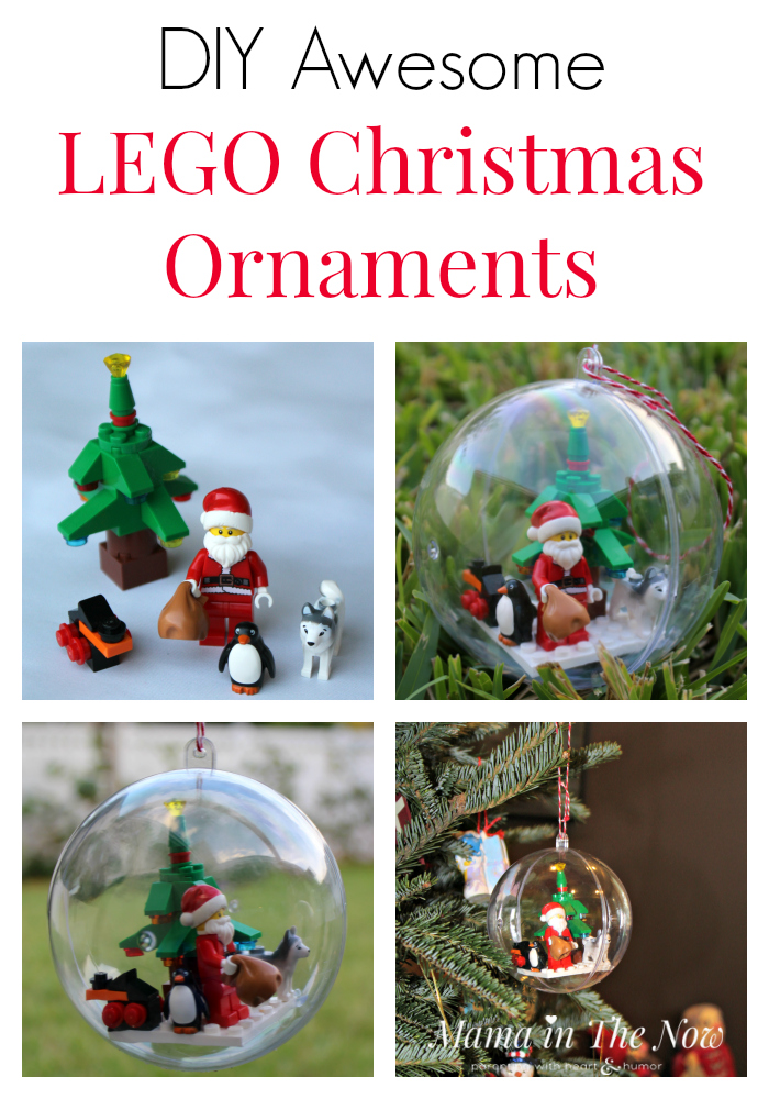step by step instructions to make a lego christmas ball ornament