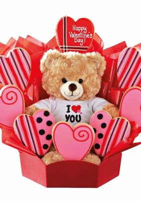 The perfect Valentine's Day present from Build A Bear and Cookies by Design. Adorable gift idea