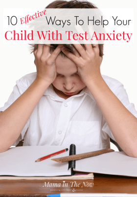10 tips for parents with kids who suffer from text anxiety. This advice is perfect also for general anxiety in children. Help your child manage stress, pressure and teach them valuable coping skills.