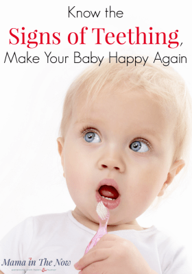 learn the 8 signs of teething so you can calm your baby. Drooling infants, sleepless nights and runny noses can all be signs of teething, but there are a few surprising symptoms too! Motherhood teething tip!