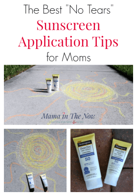 Sun safety mantra: there's no such thing as a healthy tan. Sunscreen application tips and hacks for moms with babies, toddlers and wiggly kids. Get sunscreen on without tears - proven method by mother of four.