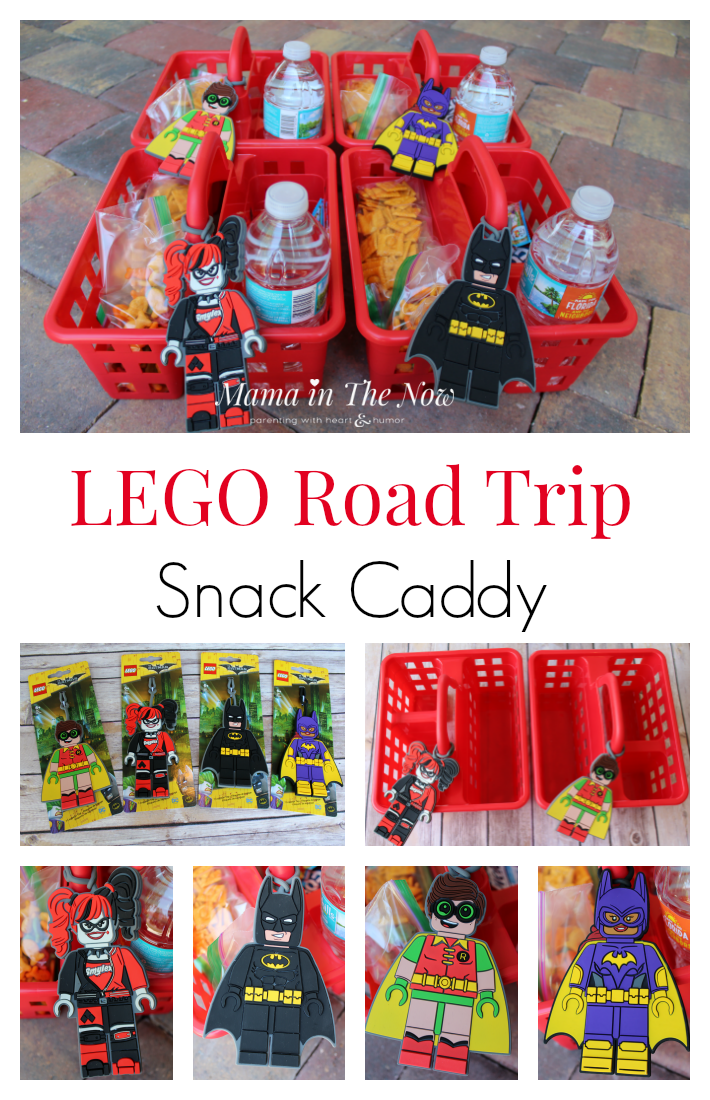 LEGO snack caddy for road trips and family vacations. Give your kids healthy snacks for a long car ride, or a quick picnic. These snack carriers have saved our family and family vacation more times than I care to think about. Total motherhood win.
