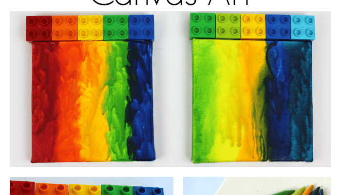 Colorful Melted Crayon Art With LEGO DUPLO