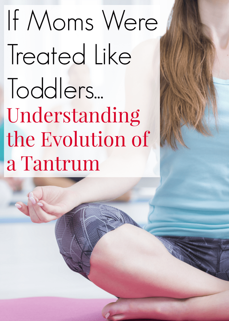 Have you ever struggled to understand your toddler's tantrum? If moms were treated like toddlers. Understanding the evolution of a tantrum. Understanding tantrums and learning how to prevent them. #Tantrums #Toddler #ToddlerBehavior #Parenting
