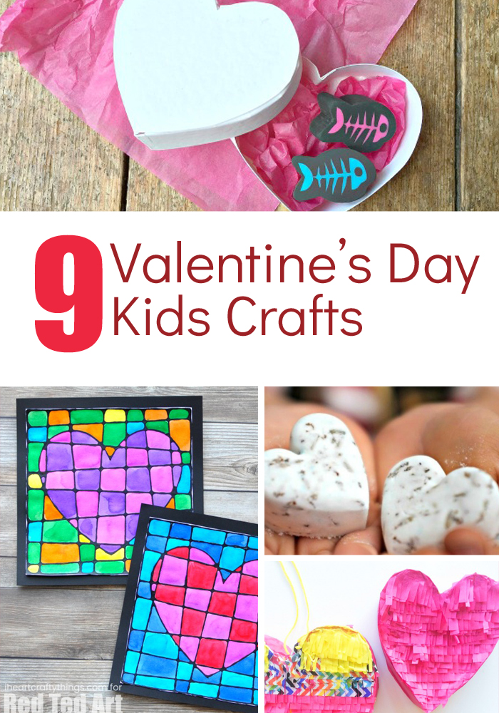 Valentine's Day Kids Crafts. Valentine's crafts for toddlers. Valentine's Day crafts for preschoolers. Valentine's Day crafts for kids. Heart crafts. #ValentinesDayKidsCrafts #ValentinesDayPreschoolCrafts #ValentinesDay #CraftsforKids #MamaintheNow