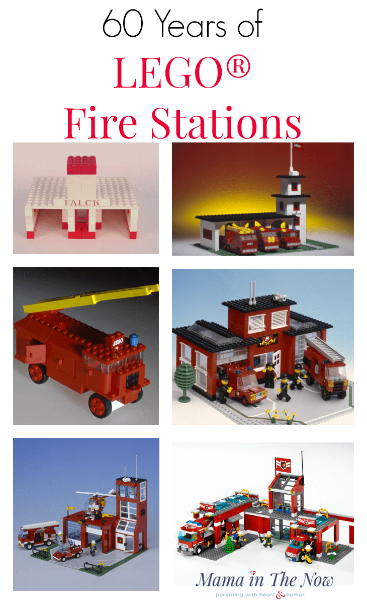 LEGO fire station sets through the years. 60 years of LEGO sets. 60 fun LEGO facts to celebrate the 60th Anniversary of the LEGO brick! The coolest toy ever created: LEGO! Learn little-known facts about LEGO, the LEGO Group and the LEGO bricks. LEGO trivial for the true diehard LEGO fan and AFOL. #LEGO #LEGOfacts #60thAnniversary #AFOL #FunFacts #LEGOMom #MamaintheNow