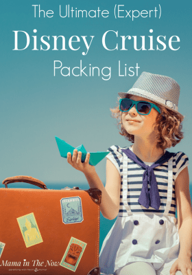 The ultimate (expert) Disney Cruise packing list, from a veteran Disney-cruiser and mother of four boys. Don't leave home without these all too important items that you probably haven't thought to pack! #Disney #DisneyCruise #DisneyCruisePackingList #CruisePackingList #PackingList #DisneyCruiseTips #mamainthenow