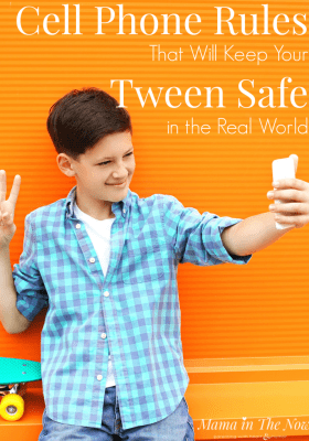 Cell phone rules that will keep tweens safe in the real world. Cell phone contract for tweens. Tweens with cell phones. Cell phone safety rules for tweens and teens. Family tech rules. #CellPhoneRules #TechnologyRules #FamilyTechRules #ParentingTweens #ParentingTeens #CellPhoneRules #Tweens #Teens #Mamainthenow