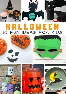 10 Super fun Halloween ideas for kids. Not too spooky halloween crafts for kids. Halloween crafts for kids. Halloween decorations you can make with your kids. #halloweenideasforkids #HalloweenCraftsForKids #Halloween #HalloweenCrafts #CraftsForKids #ForKids #MamaintheNow #NotSpookyHalloween #FunWithKids #FallFun