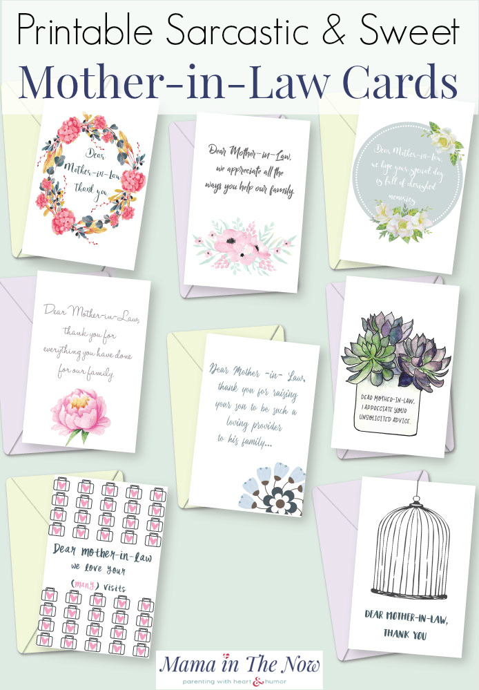 Send A Thank You Note To Your Mother In Law Free Printable