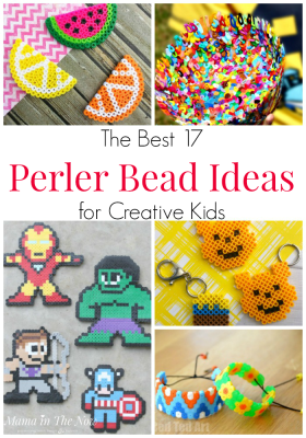 The best Perler bead ideas for creative kids. Great craft for fine motor skills. Perler bead craft ideas. Hama bead craft ideas. Melting bead ideas. Crafts for kids. Fun crafts for tweens. Crafts for teens. Perler bead patterns for kids. #MamaintheNow