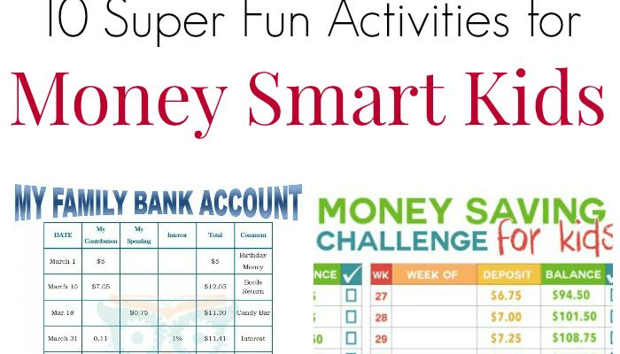 10 Super Fun Activities For Money Smart Kids