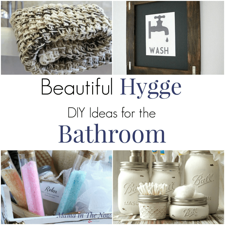 Beautiful Hygge DIYs for the Bathroom. Bathroom decor and DIY bathroom decorations. Redecorated your bathroom with these easy DIY ideas. #Hygge #HyggeHome #HyggeLife #BathroomDecor #HyggeDecor #BathroomDIYs #mamainthenow