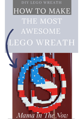 LEGO flag wreath