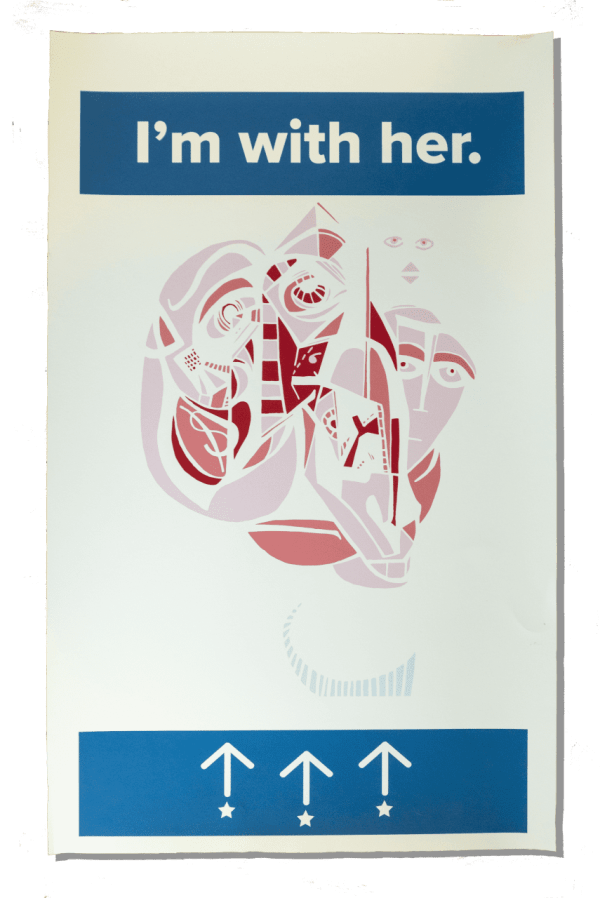 Vote for Abstract Campaign Poster of Hillary Clinton