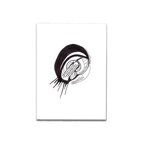 black and white drawing meditation