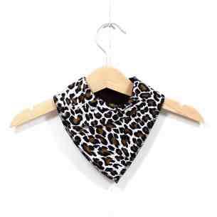 LEOPARD PRINT BANDANA BIB - Leopard animal print bandana dribble bib